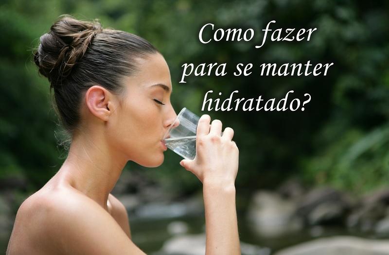 hidratar o corpo e beber água